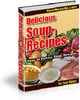 Thumbnail Delicious Soup Recipes- Rebrandable, Resellable