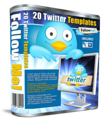 Product picture 20 Twitter Templates with PLR/MRR
